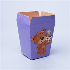 Плайм пакет для цветов 150*120/90 Мишка с тортиком