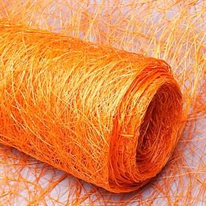 Сизалевое полотно 48см*4,5м оранжевый
