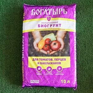 Грунт Богатырь для томатов,перца и баклажанов 10л (5)
