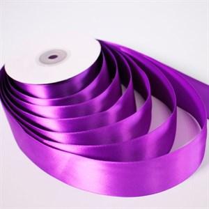 Лента атлас 38мм х 25 м К фиолетовая