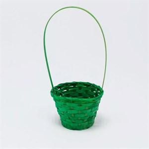 Корзина плетеная бамбук 13*9,5 28см зеленый