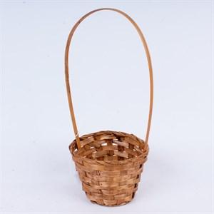 Корзина плетеная бамбук 13*9,5 28см коричневый