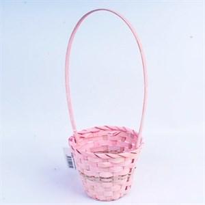 Корзина плетеная бамбук 14,5*11,5см розовый