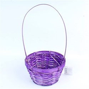 Корзина плетеная бамбук 20*15 10см фиолетовая