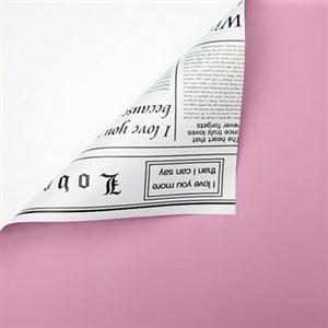 Пленка 58*10м Газета лаванда/белый