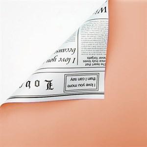 Пленка 58*10м Газета чайная роза/белый