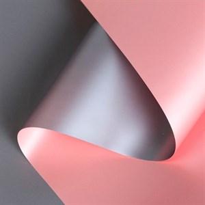 Пленка матовая 60*10м серый/розовый