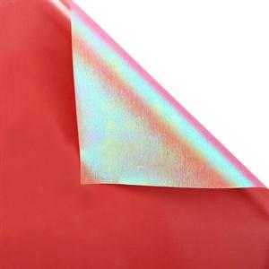 Пленка с жемчужным переливом 60*5 м ярко-красный