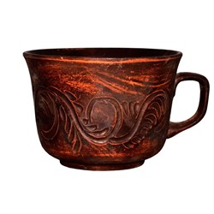 Чашка Аппетитка 0,5л красная глина