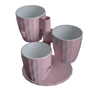 Каскад Руби из 3-х 1л розовый