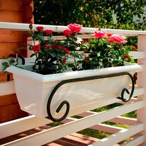 Ящик балконный ТЕРРА 100*19 белый