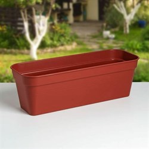 Ящик балконный ГЛОРИЯ 60*18 коричневый