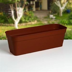 Ящик балконный ГЛОРИЯ 60*18 какао