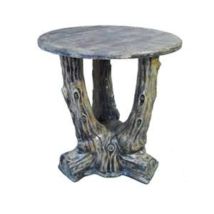 Стол Три ствола с деревянной столешницей