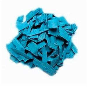 Декоративная щепа 60л голубая