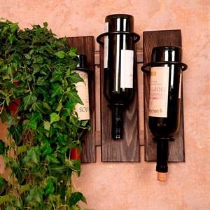 Подставка винная металл с деревом 59-114