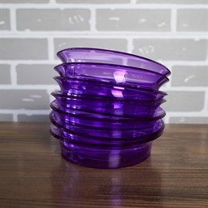 Поддон фиолетовый-прозрачный 16см