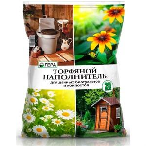 Торфяной наполнитель для дачных биотуалетов и компостов 25л