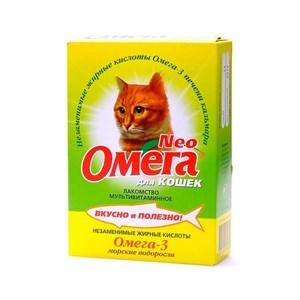 Лакомство Омега Нeo  для кошек морские водоросли