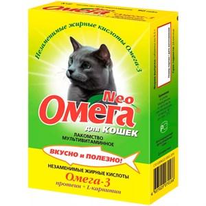 Лакомство Омега Нeo  для кошек 90т протеин карнит