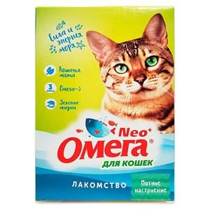 Лакомство Омега Нeo  для кошек 90т с кошачьей мятой