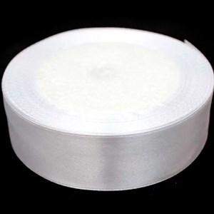 Лента атлас 25мм х 25 ярд белая